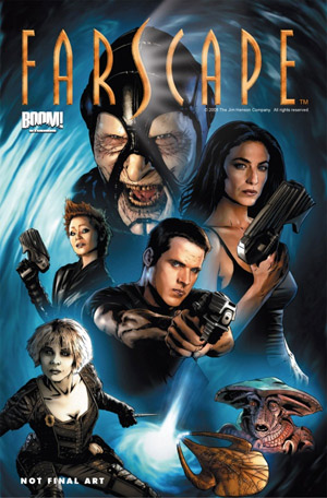 Farscape comic book mockup